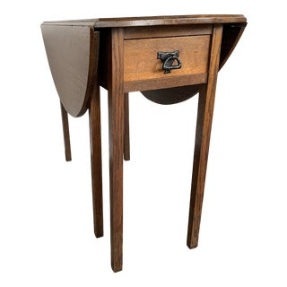 English Arts and Crafts Drop Leaf Table For Sale