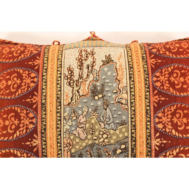 Silk Middle Eastern Decorative Throw Pillow For Sale - Image 7 of 11
