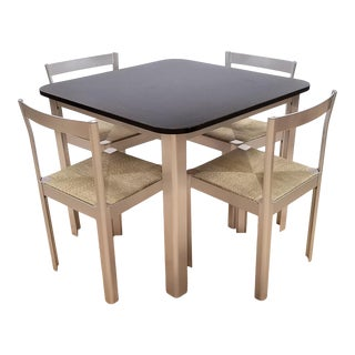1980s Hank Loewestein Italian Dining Table & Chairs For Sale