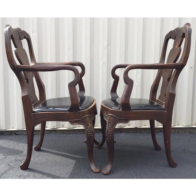 Early 20th Century 20th Century Chippendale Dining Yoke Chairs - a Pair For Sale - Image 5 of 13