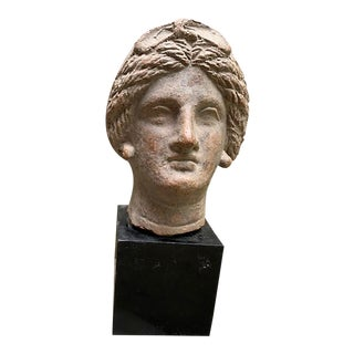 Antique Roman Woman Bust For Sale
