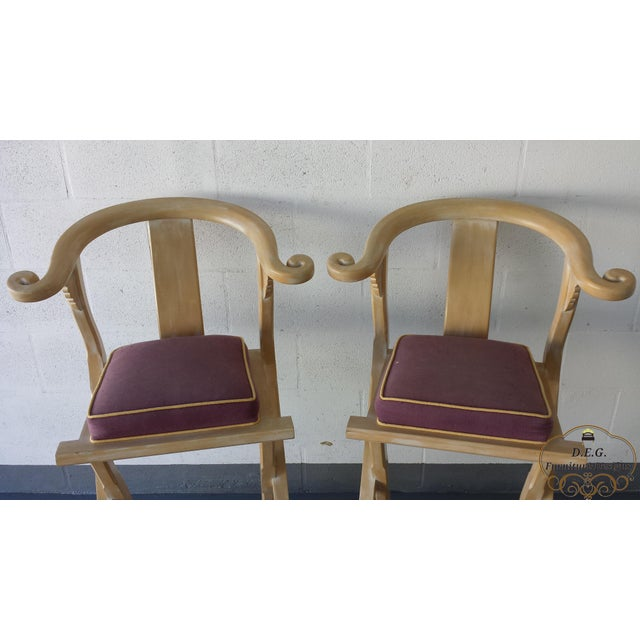 Vintage Chinoiserie Bar Stools - a Pair For Sale - Image 4 of 11