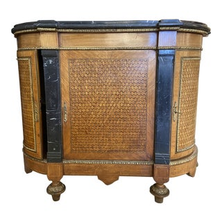 Marquetry Demi Loon Cupboard For Sale