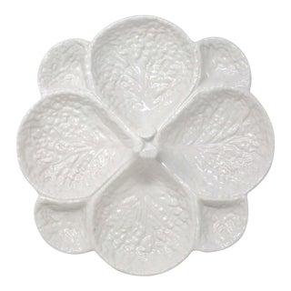 White Cabbage Leaf Ceramic Platter For Sale