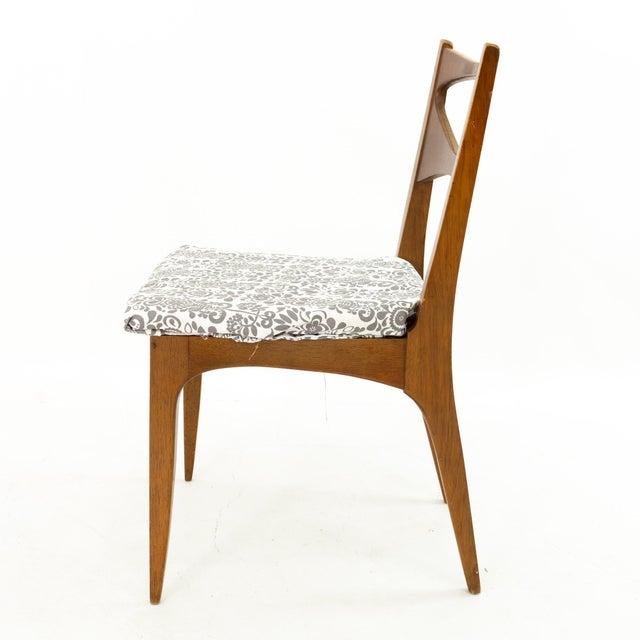 Brown John Van Koert for Drexel Profile Mid Century Walnut Dining Chairs - Set of 4 For Sale - Image 8 of 13