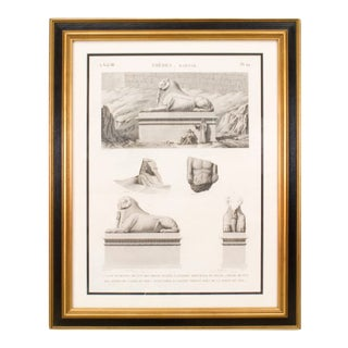 19th Century French Archaeological Print of Egyptian Sites and Relics For Sale