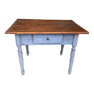 Rustic Country Farmhouse Kitchen/Work Table Desk 19th C For Sale