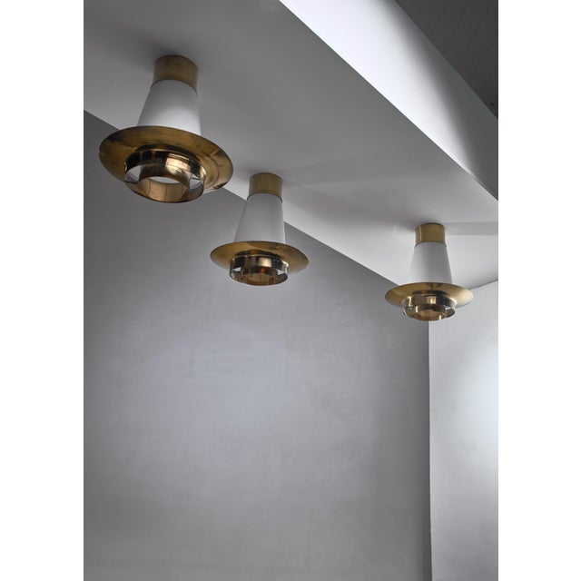 Stockmann Orno Yki Nummi Set of Three Ceiling Lamps for Orno For Sale - Image 4 of 5