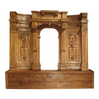 A Large and Unique Antique French Boiserie Section with Covered Alcove, 17th Century Elements For Sale