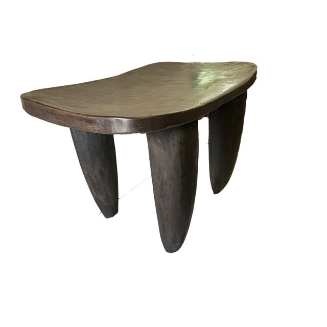 """African Senufo Stool / Table I Coast 18"""" H by 26.5"""" W For Sale In New York - Image 6 of 7"""