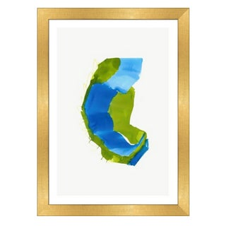 Framed in Gold 'Color Study 5' Watercolor Print on Textured Paper by Encarnacion Portal Rubio For Sale