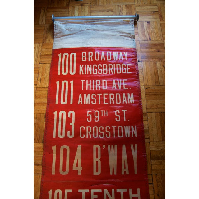 "Traditionally, New York City trolley, bus, and subway signs were fabricated in this form: the vellum cloth ""roll sign."" In..."