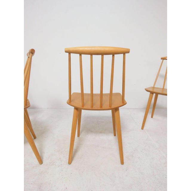 Cream Set of Four Folke Palsson for Fdb Mobler, Denmark Dining Chairs, Circa 1975 For Sale - Image 8 of 11