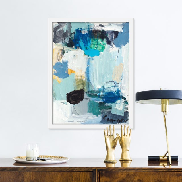 Giclée on textured fine art paper with white frame. Unframed print dimensions: 15.75x20.75. Seeking to create an abstract...