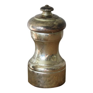 Mid 20th Century French Sterling Silver Pepper Mill From Peugeot Freres For Sale