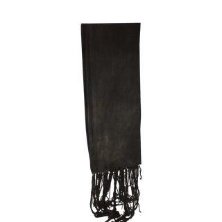 Fashion: Dark Grey and Stripe Mud Cloth Unisex Scarf For Sale