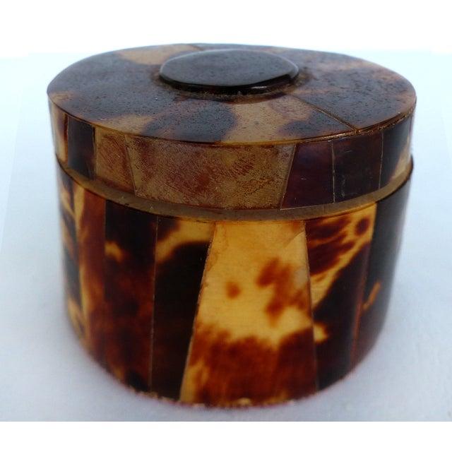 Faux-Tortoise Lidded Trinket Box - Image 2 of 6
