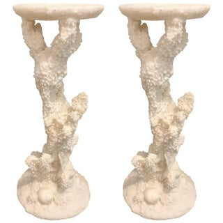 Aquatic-Themed Carved Candlesticks, 20th Century For Sale