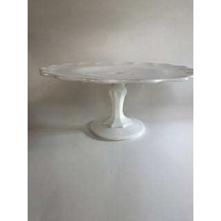 Vintage Milk Glass Cake Stand Preview