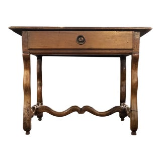 19th Century French Louis XIII Carved Walnut Writing Table For Sale
