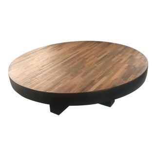 Vintage Environment Furniture Peroba Wood Coffee Table For Sale