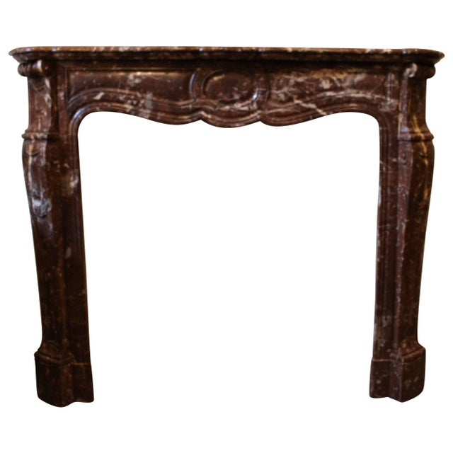 French Louis XV Style Marble Mantel For Sale - Image 9 of 9