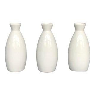 Otagiri Company White Ceramic Bud Vase- Set of 3 For Sale