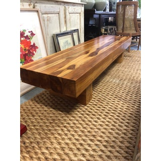 Modern Solid Teak Wood Block Bench Preview