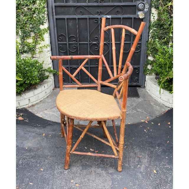 Rare Antique 19 C Bamboo Corner Chair. Superb quality and in excellent condition.