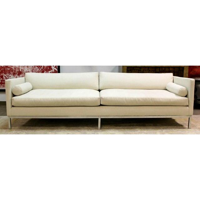 Mid-Century Modern Mid Century Modern B&b Italia Chrome Base Sofa Italy 1970s Baughman Era For Sale - Image 3 of 10