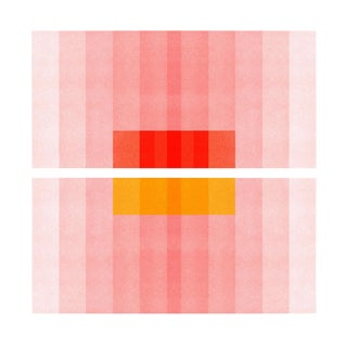 """Color Space Series 27: Pink, Red, Yellow"" Abstract Print - 8"" X 8"" For Sale"