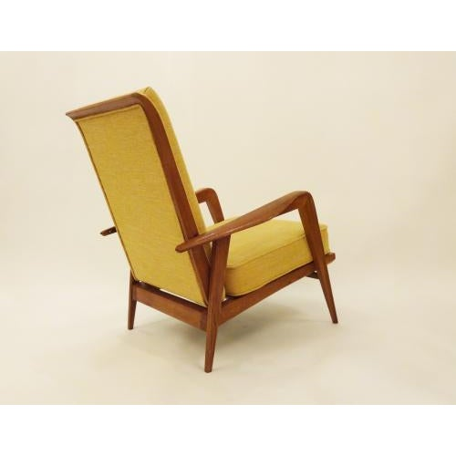 Etienne Henri Martin Pair of Modernist Reclining Lounge Chairs in Oak, edited by Steiner For Sale In New York - Image 6 of 9
