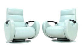Image of Baby Blue Club Chairs