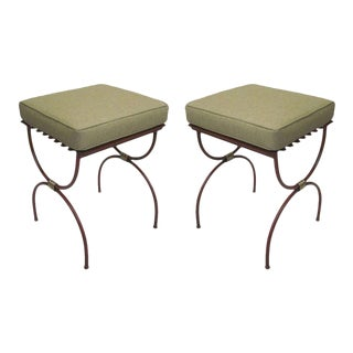 Two Pair of French 1940s Side Tables, Luggage Racks or Benches