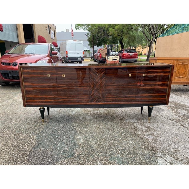 1940s Vintage French Macassar Ebony Sideboard For Sale - Image 13 of 13