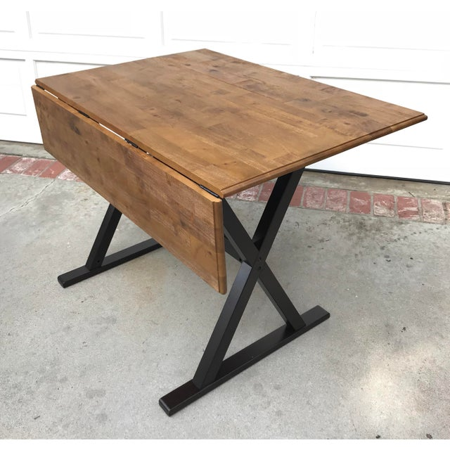 Drop Leaf X Base Table - Image 5 of 5
