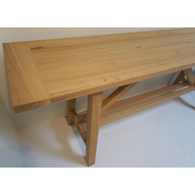 Contemporary Bohemian Works Natural Wood Extra Long Console Table For Sale - Image 3 of 9