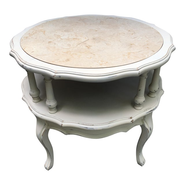 Vintage 2 Tiered Mersman Accent Table For Sale