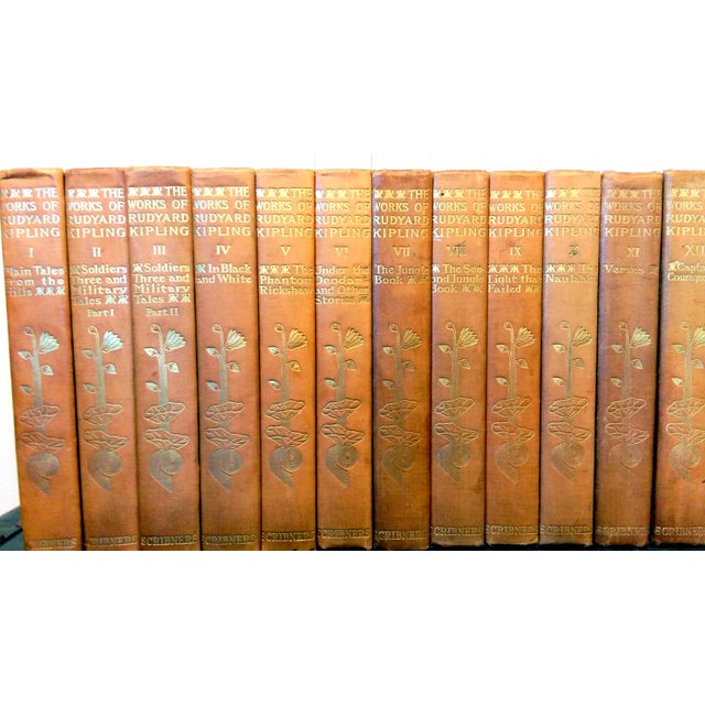 "Illustrated 28 volume set of Rudyard Kipling's ""Writings in Prose and Verse"" Outward Bound Edition, published by Charles..."
