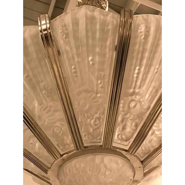 Genet Et Michon French Art Deco Chandelier - Image 4 of 9