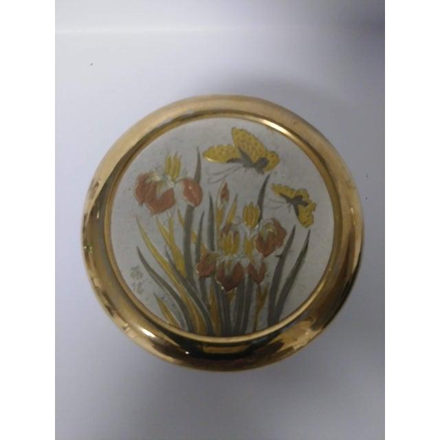 Metal 1960s Japanese Chokin Gold Trinket Box For Sale - Image 7 of 7