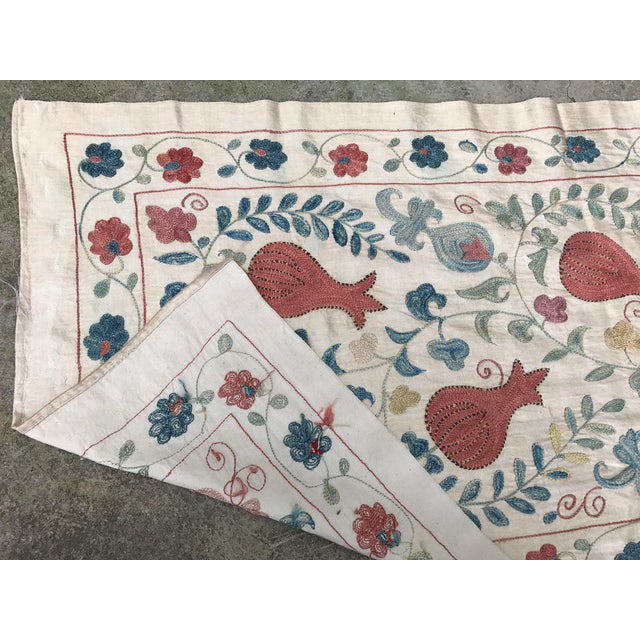 Vintage Pure Silk Suzani Table Runner - Image 6 of 6
