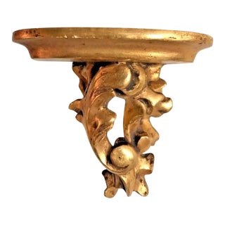 Antique Giltwood Wall Decorative Bracket Sconce For Sale