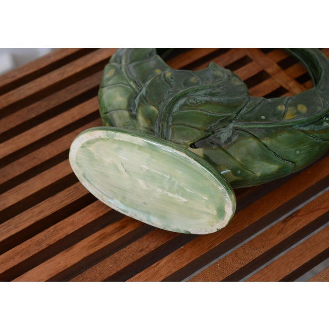 1940s 1930s Ceramic Green Planter For Sale - Image 5 of 6