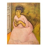 """Image of 1954 Raoul Dufy, """"Woman in Rose"""" First Edition Lithograph For Sale"""