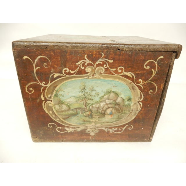 19th Century Italian Painted Scenes on Herb Box For Sale - Image 4 of 7