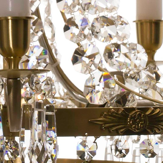 Empire Chandelier - Brass & Crystal - Image 2 of 4