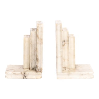 1930s Marble Bookends - a Pair For Sale