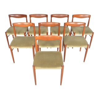 Teak + Rosewood Dining Chairs by H.w. Klein - Set of 8 For Sale