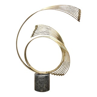 1960s Abstract Brass and Marble Sculpture by Curtis Jere For Sale